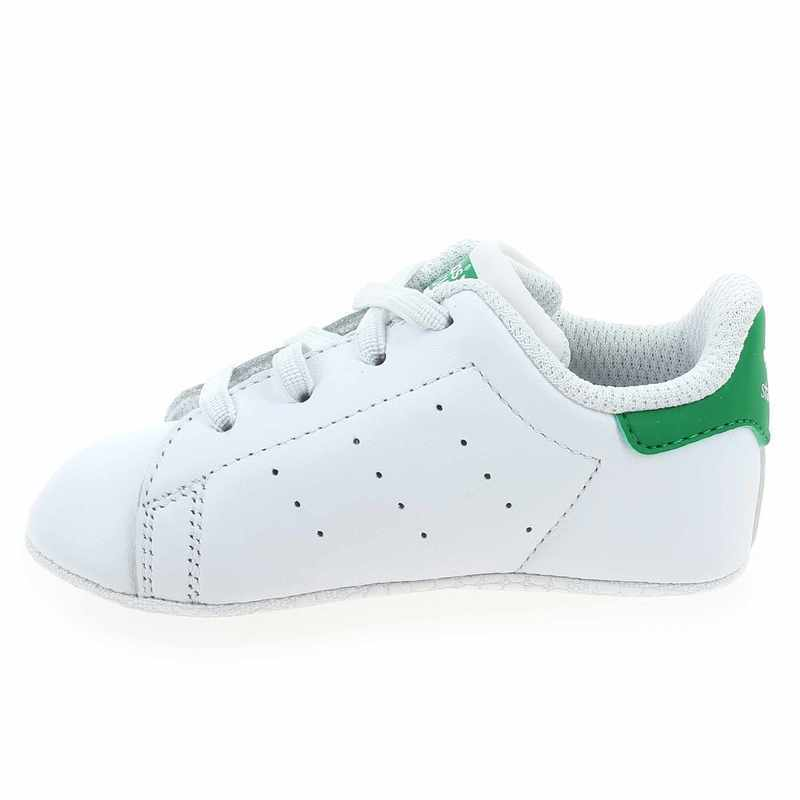 sports shoes 574f3 9a27d Chaussure Adidas Originals modèle STAN SMITH CRIB, Blanc Vert - vue 2