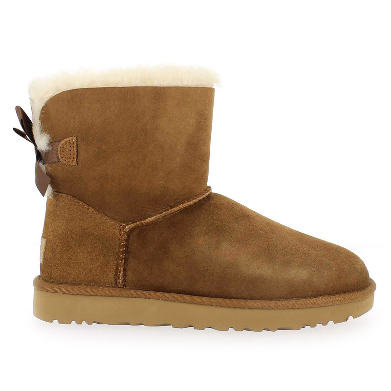 ugg mini bailey bow camel
