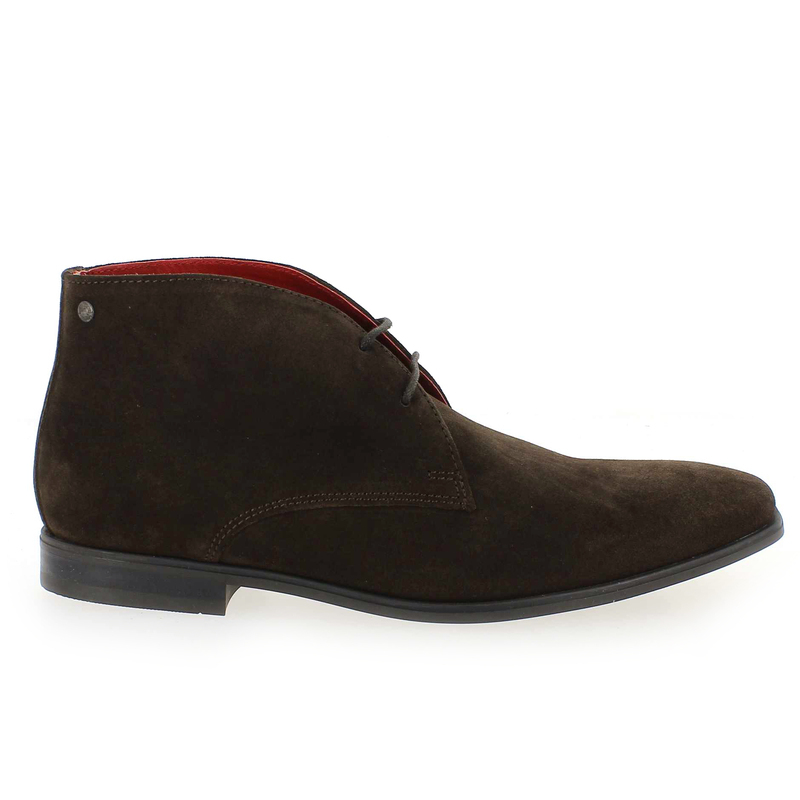 Chaussure Base London HENRY Marron couleur Velours Marron - vue 1