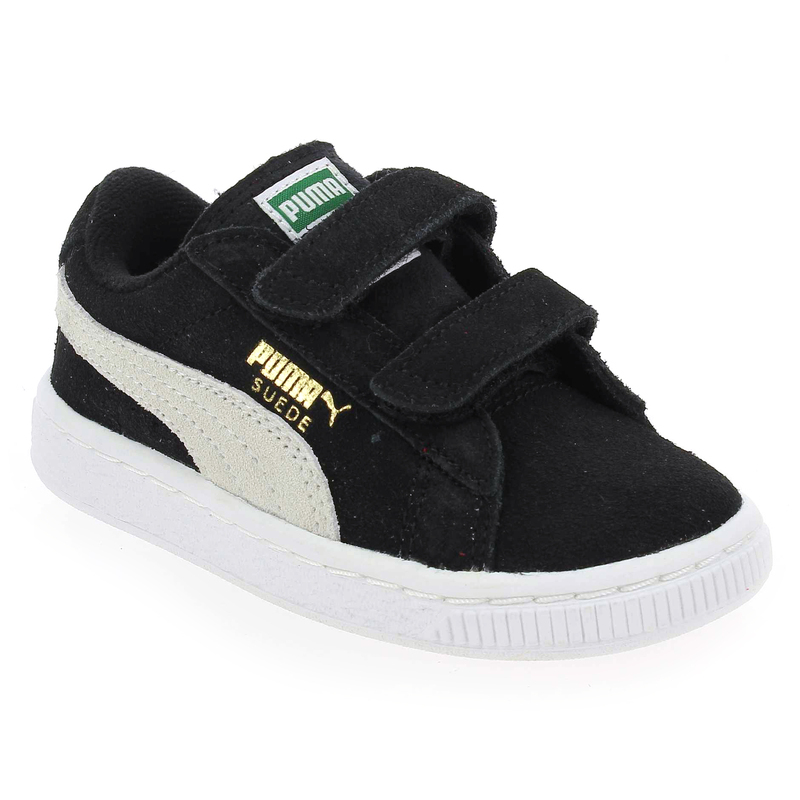 chaussure puma suede jr scrap noir 5101201 pour enfant garcon jef chaussures. Black Bedroom Furniture Sets. Home Design Ideas