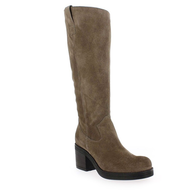 5201 Beige Life Bottes Velours Chaussure Cuir 5117201 Pour Femme 5EqEdcW