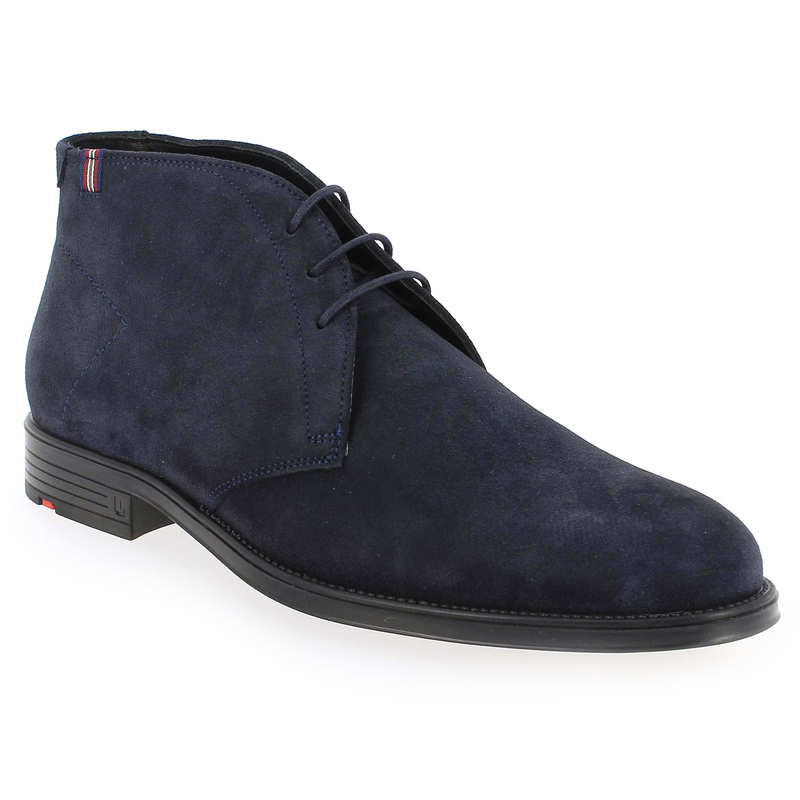 Lloyd En Cuir Noir Velours Bottines R4qgIn