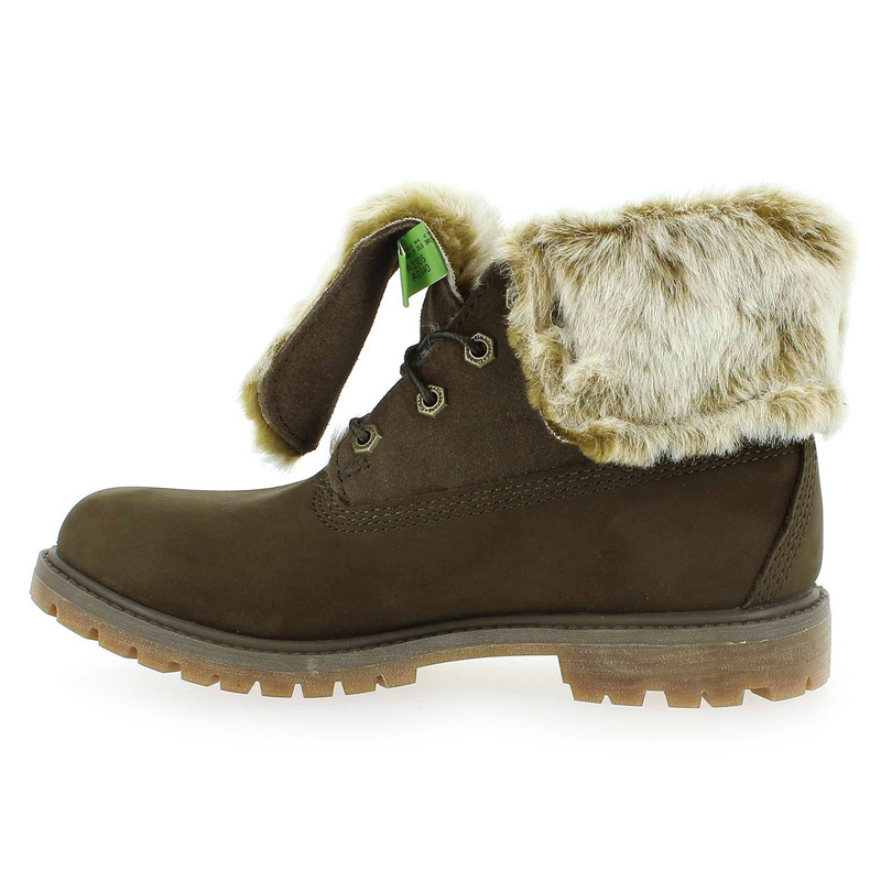 chaussure timberland authentics faux fur vert 5158001 pour femme jef chaussures. Black Bedroom Furniture Sets. Home Design Ideas
