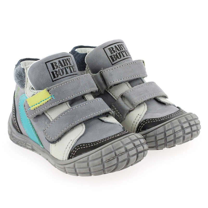 Chaussure Babybotte AIKIDO Gris couleur Gris Turquoise - vue 6