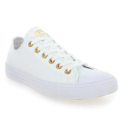 Chaussure Converse modèle CT ALL STAR OX, Blanc Or - vue 0