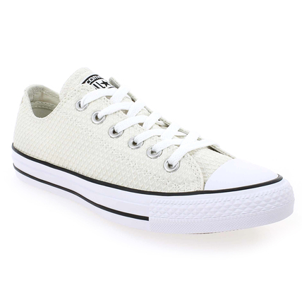 Chaussure Converse modèle CT ALL STAR OX, Beige Blanc - vue 0