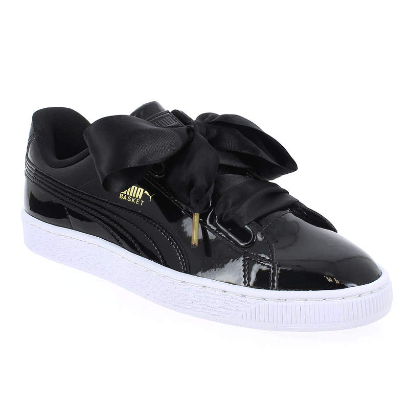 chaussure puma basket heart patent noir 5180601 pour femme. Black Bedroom Furniture Sets. Home Design Ideas