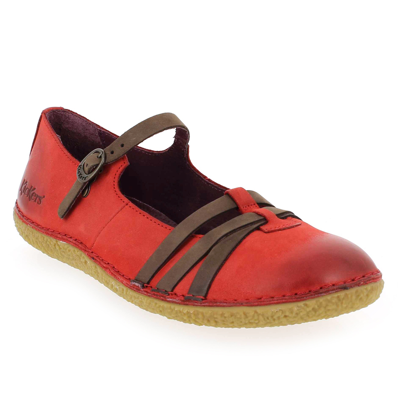 9e9e7f12 Chaussure Kickers HIBOU rouge 5182601 pour Femme | JEF Chaussures