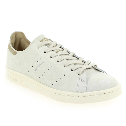 Chaussure Adidas Originals modèle STAN SMITH FASHION, Blanc craie Beige - vue 0