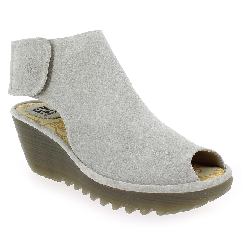 Fly London Yone gris - Chaussures Sandale Femme