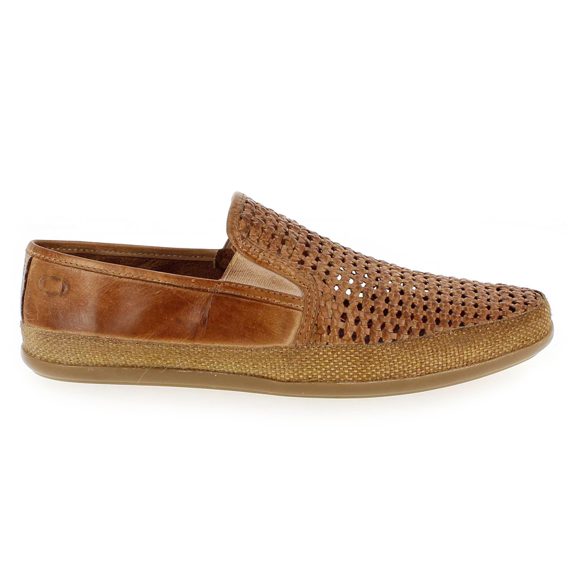 Mocassins Camel en Cuir Base London - Soldes