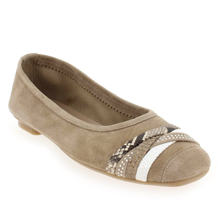 Chaussure Reqins modèle HERA, Velours Taupe - vue 0