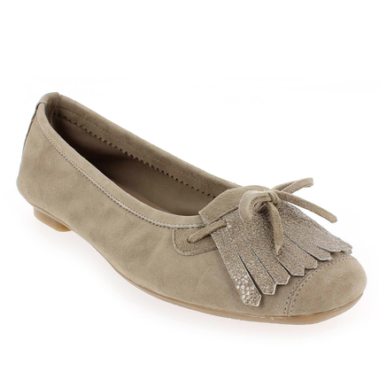 Chaussure Reqins modèle HINDI, Velours Taupe - vue 0