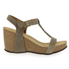 Chaussure Reqins modèle QARLY, Velours Taupe - vue 1