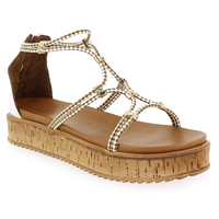 Chaussure Inuovo modèle 7444, Blanc Camel - vue 0
