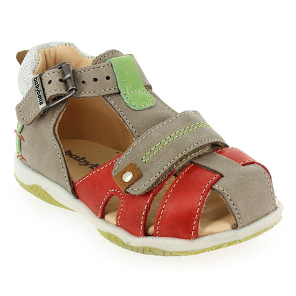 Chaussure Babybotte modèle TIRALARC, Taupe Rouge - vue 0