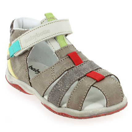 Chaussure Babybotte modèle TYPO, Taupe Multi  - vue 0
