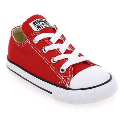 Chaussure Converse modèle ALL STAR OX ENF, Rouge - vue 0