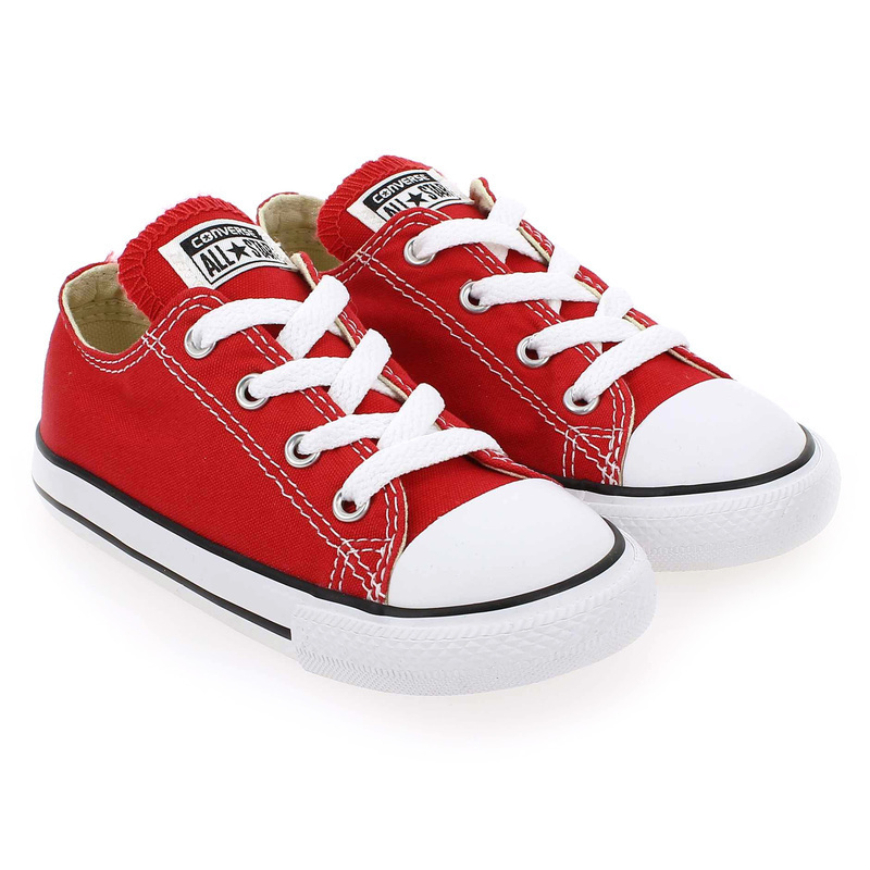 Chaussure Converse ALL STAR OX ENF rouge couleur Rouge - vue 0