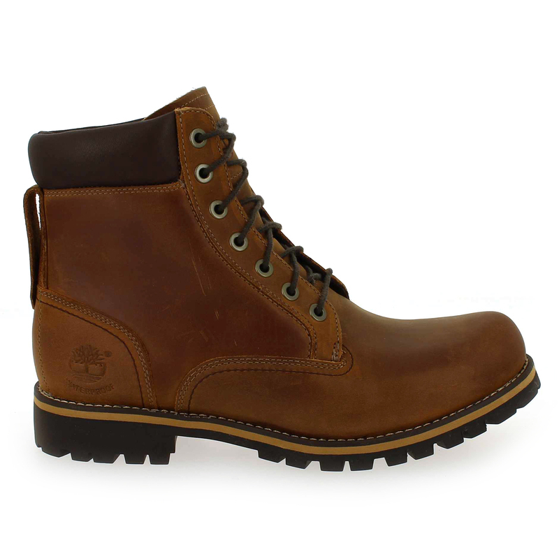 Chaussure Timberland RUGGED 6 IN PLAIN TOE WP Camel couleur Cognac - vue 1