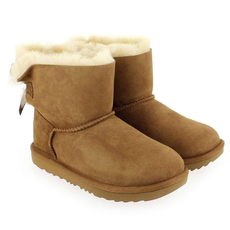 Chaussure UGG MINI BAILEY BOW 2 camel couleur Camel - vue 0