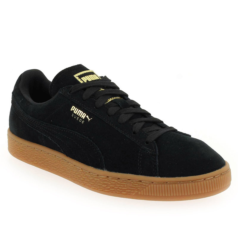 chaussure puma suede classic noir 5333601 pour femme jef chaussures. Black Bedroom Furniture Sets. Home Design Ideas