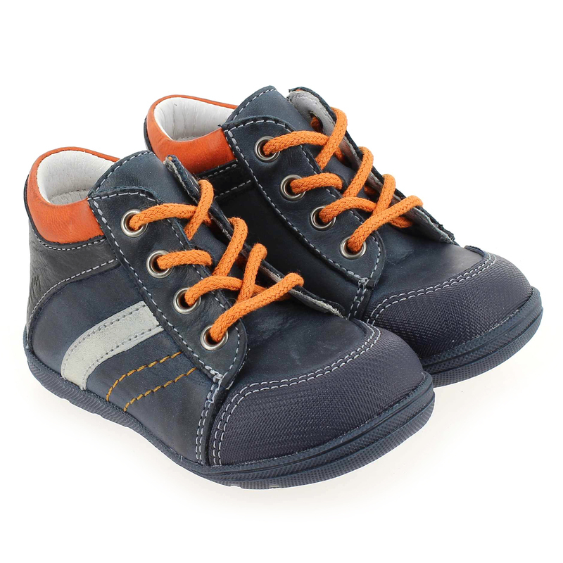 Chaussure Bellamy INDEX bleu couleur Marine Orange - vue 0