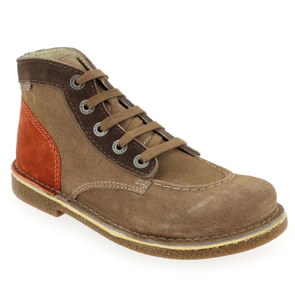 Chaussure Kickers modèle LEGENDOK NEW, Marron Orange - vue 0