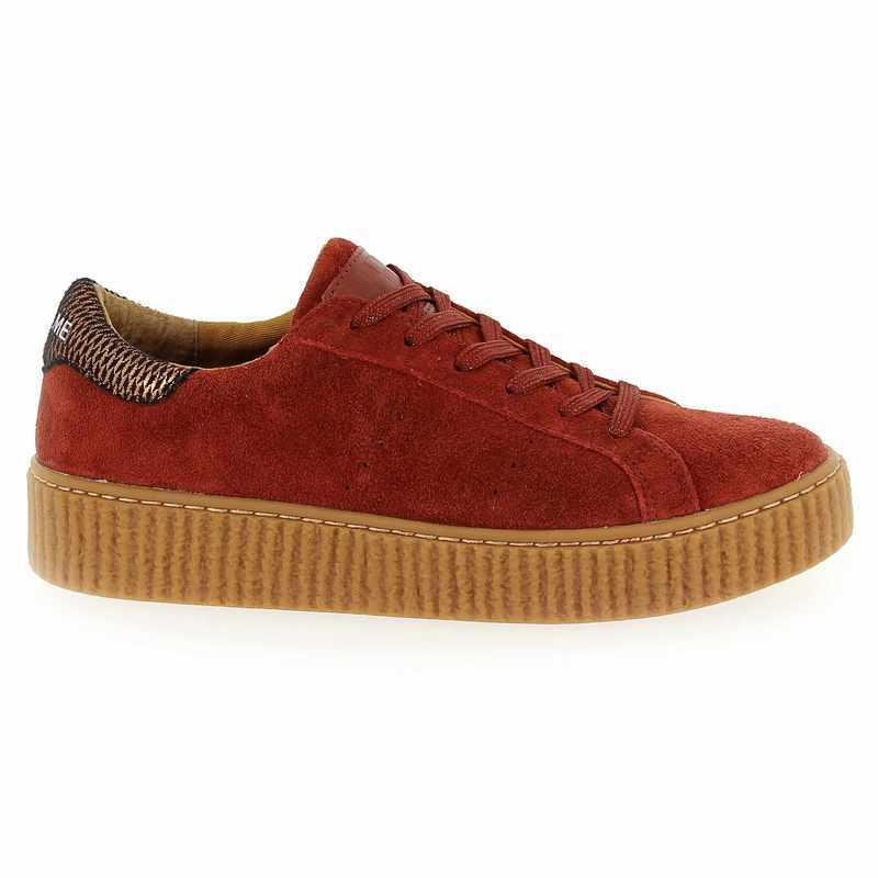 Chaussure No Name PICADILLY SNEAKER Rouge couleur Brique - vue 1