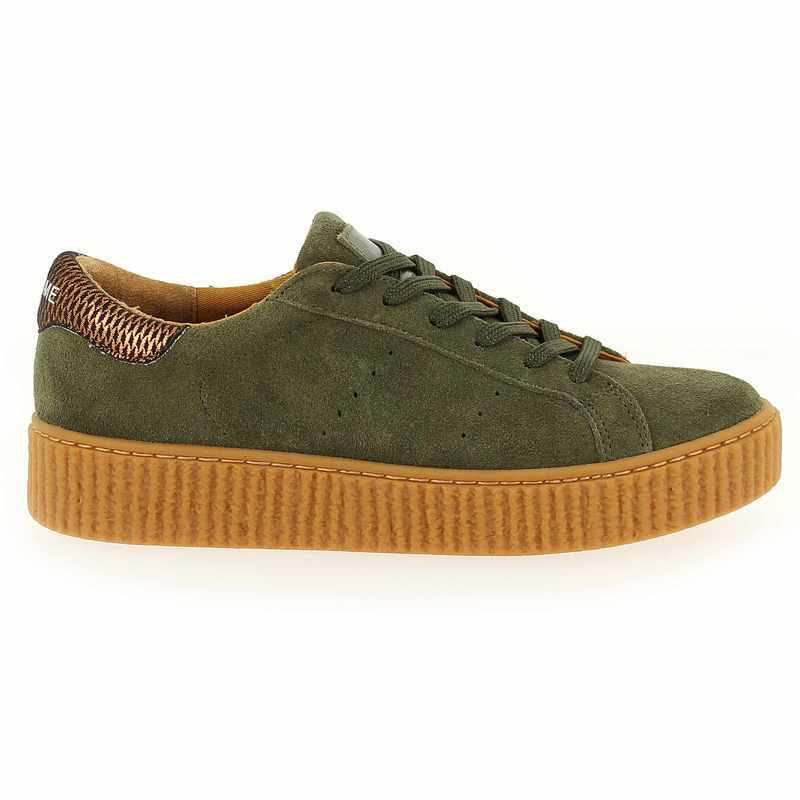 Chaussure No Name PICADILLY SNEAKER vert couleur Kaki - vue 1
