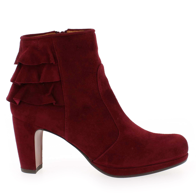 Chaussure Chie Mihara PRAXA Rouge couleur Velours Carmin - vue 1