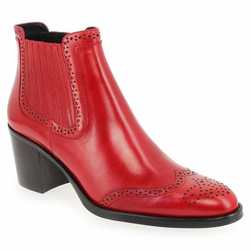 Boots Janie Philip ADELE Rouge Femme