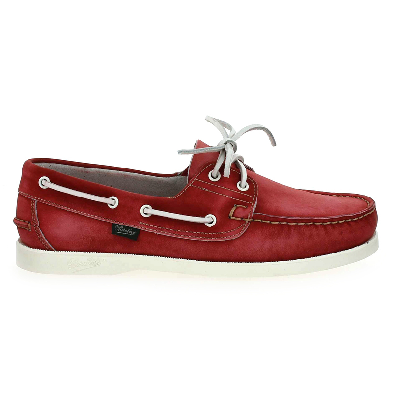 Chaussure Paraboot BARTH rouge couleur Rouge Rubis - vue 1