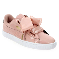puma suede heart patent grise