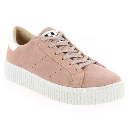 Chaussure No Name modèle PICADILLY SNEAKER, Rose pastel  - vue 0