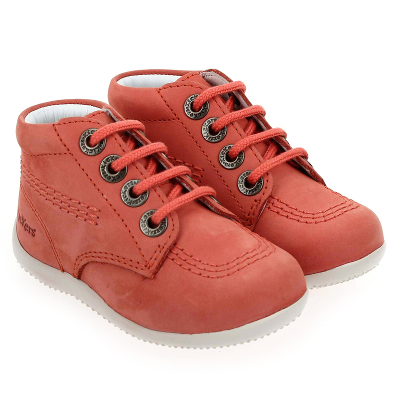 Chaussure Kickers BILLY Rose couleur Corail - vue 0