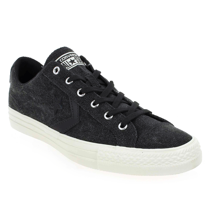 Converse Star Player Suede Gris Gris - Chaussures Baskets basses Homme