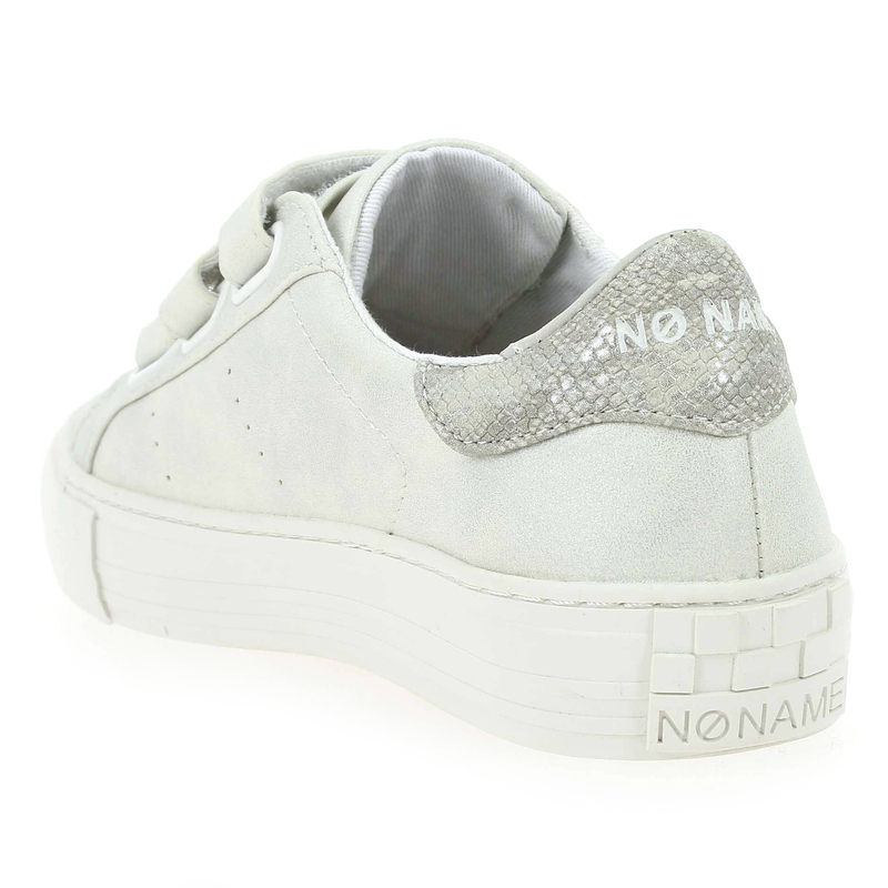Chaussure No Name ARCADE SNEAKER STRAPS GLOW blanc couleur Blanc Argent - vue 1