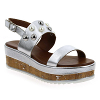 Chaussure Inuovo modèle 8845, Argent - vue 0
