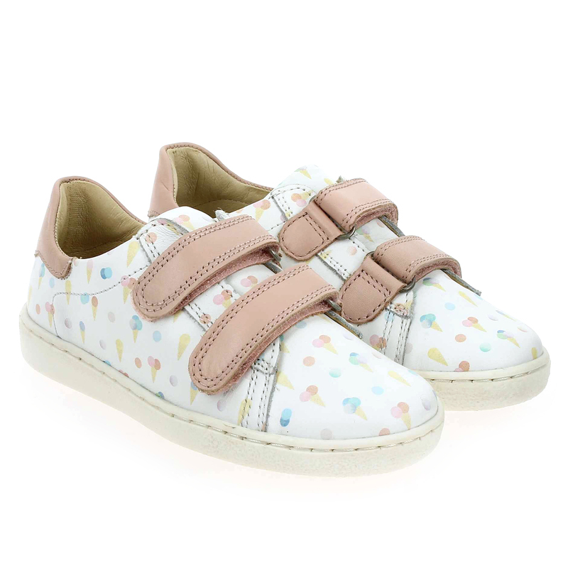 Chaussure Shoopom DUCKY SCRATCH blanc couleur Blanc Rose - vue 0