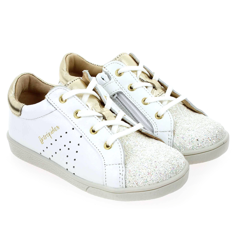Chaussure Babybotte KUIZY Blanc couleur Blanc Or - vue 0