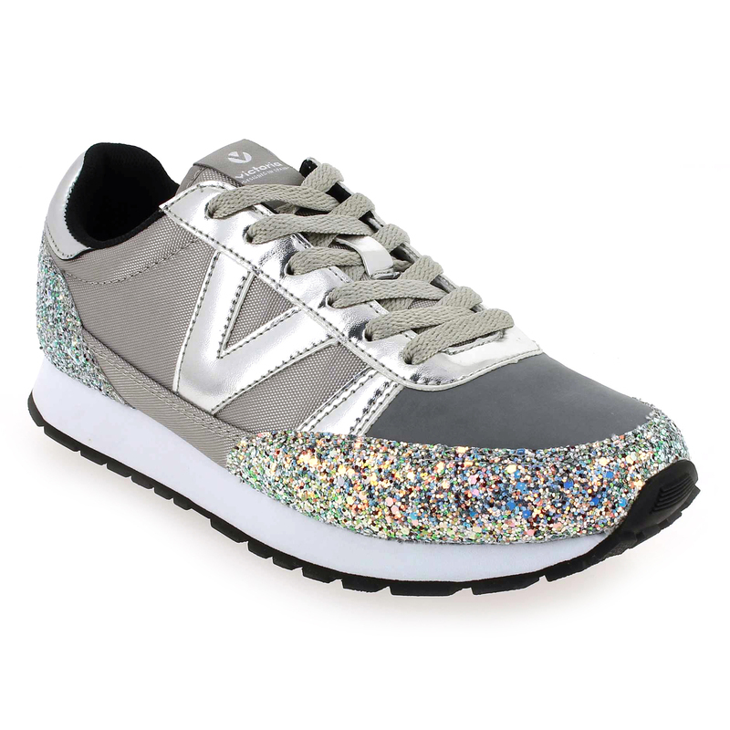 Chaussure Victoria DEPORTIVO CICLISTA GLITTER Gris 5543601 pour Femme