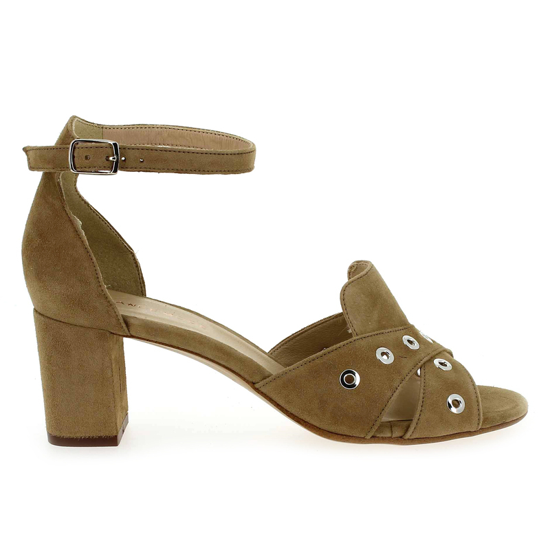 Chaussure France Mode ODEON beige couleur Velours Beige - vue 1