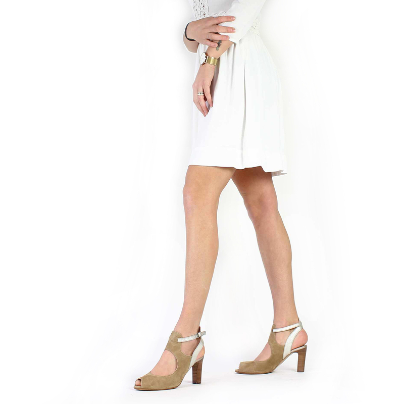 Chaussure France Mode ALEP beige couleur Taupe Platine - vue 0
