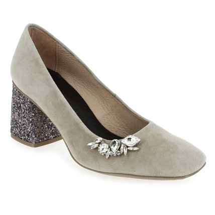 Chaussure Hispanitas modèle HV86972 MADEIRA, Velours Taupe - vue 0