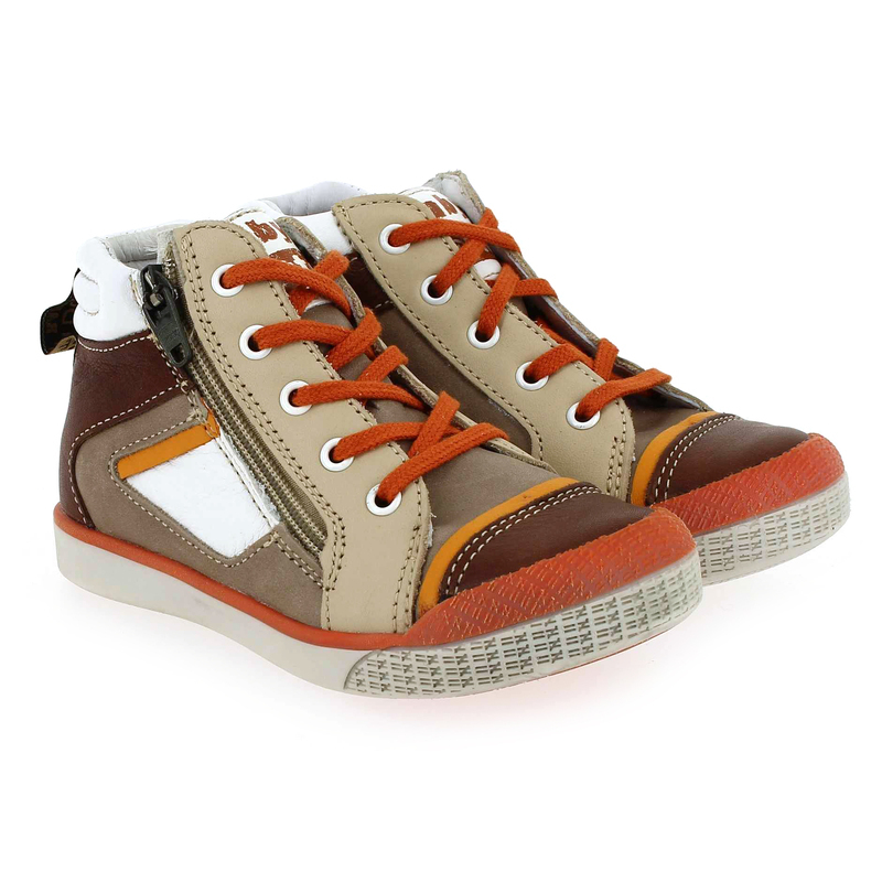 Chaussure Babybotte AVATAR marron couleur Taupe Orange - vue 0