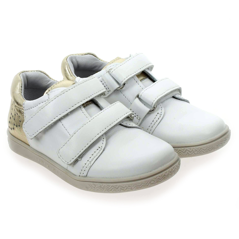 Chaussure Babybotte ALYNE blanc couleur Blanc Or - vue 0