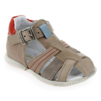 Chaussure Babybotte modèle GOLFING, Taupe Rouge - vue 0