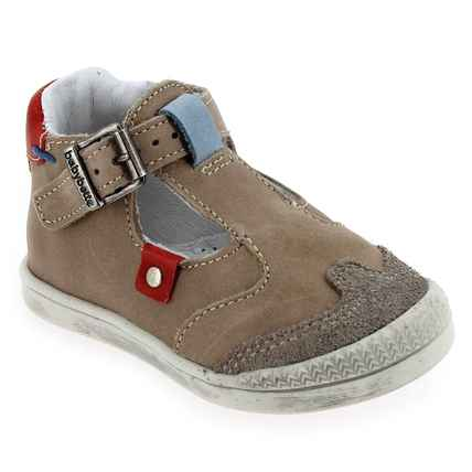Chaussure Babybotte modèle PUDDING, Taupe Rouge - vue 0