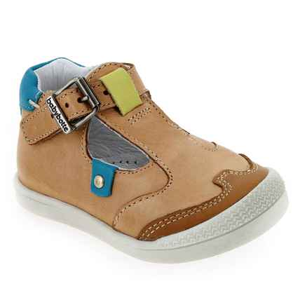 Chaussure Babybotte modèle PUDDING, Camel Turquoise - vue 0